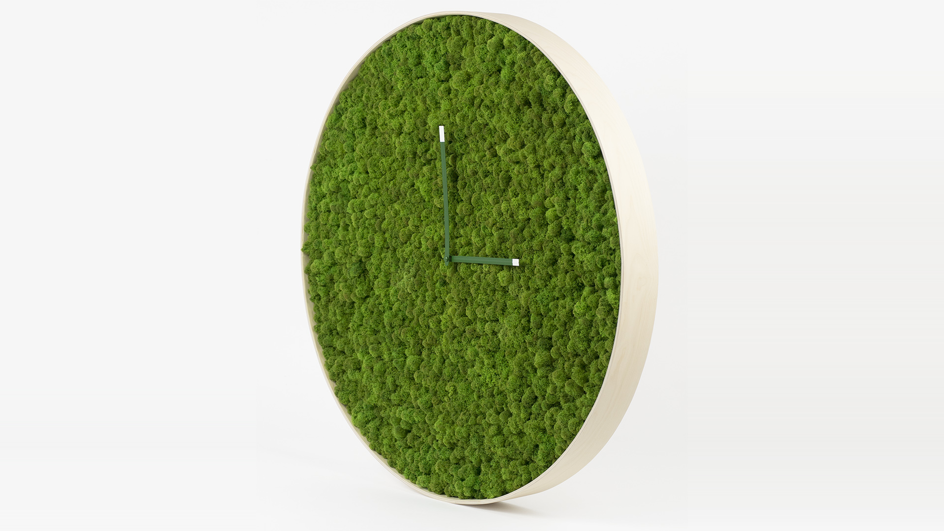moss, wood, clock, wall clock, green, design, art, architecture, interior design